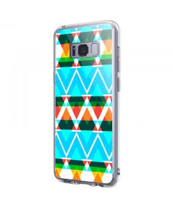 Neon Aztec - Samsung Galaxy S8 Carcasa Premium Silicon