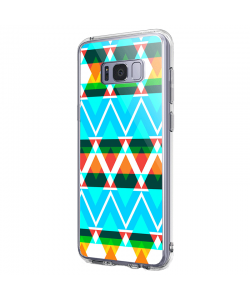 Neon Aztec - Samsung Galaxy S8 Plus Carcasa Premium Silicon
