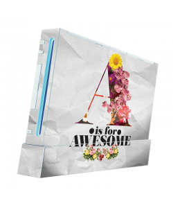 A is for Awesome - Nintendo Wii Consola Skin
