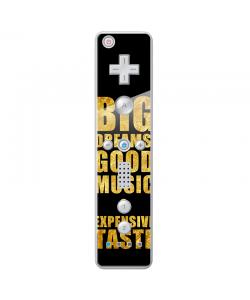 Good Music Black - Nintendo Wii Remote Skin