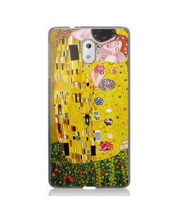 Gustav Klimt - The Kiss - Nokia 3 Carcasa Transparenta Silicon