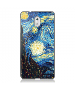 Van Gogh - Starry Night - Nokia 3 Carcasa Transparenta Silicon
