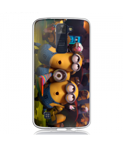 Party Minions - LG K8 Carcasa Transparenta Silicon
