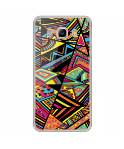 Patchy Stripes - Samsung Galaxy J7 Carcasa Silicon Transparent