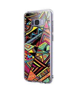 Patchy Stripes - Samsung Galaxy S8 Carcasa Premium Silicon