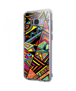 Patchy Stripes - Samsung Galaxy S8 Plus Carcasa Premium Silicon