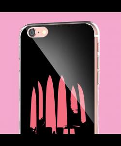 Pink Knife - iPhone 6 Carcasa Transparenta Silicon