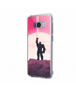 The Power of Thanos - Samsung Galaxy S8 Plus Carcasa Transparenta Silicon
