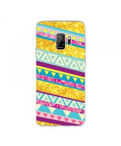 Pretty Glitter - Samsung Galaxy S9 Carcasa Transparenta Silicon
