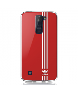 Red Adidas - LG K8 Carcasa Transparenta Silicon
