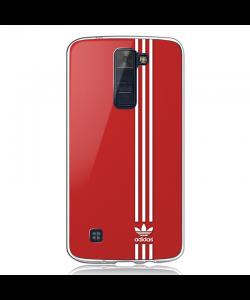 Red Adidas - LG K8 2017 Carcasa Transparenta Silicon