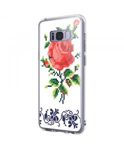 Red Rose - Samsung Galaxy S8 Carcasa Premium Silicon
