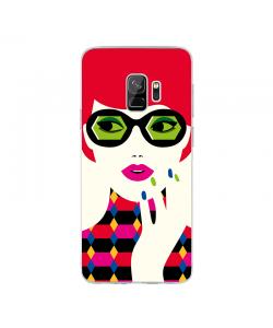 Redheaded Lady - Samsung Galaxy S9 Carcasa Transparenta Silicon