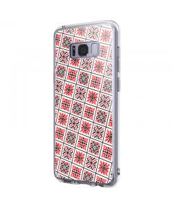 Rosu si Negru - Samsung Galaxy S8 Carcasa Premium Silicon