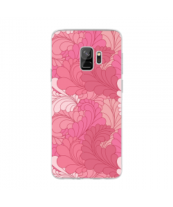 Rosy Feathers - Samsung Galaxy S9 Carcasa Transparenta Silicon