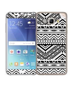Tribal Black & White - Samsung Galaxy J5 Skin