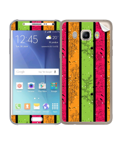 Stripes and Flowers - Samsung Galaxy J5 Skin