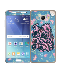 Queen of the Streets - Floral Blue - Samsung Galaxy J5 Skin