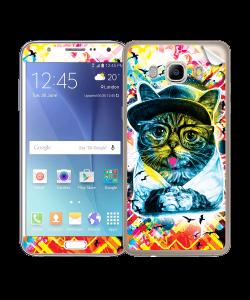 Hipster Meow - Samsung Galaxy J5 Skin