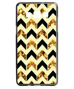 Black & Gold - Samsung Galaxy A5 Carcasa Silicon
