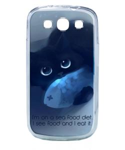 Sea Food - Samsung Galaxy S3 Carcasa Transparenta Plastic