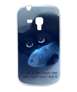 Sea Food - Samsung Galaxy S3 Mini Carcasa Transparenta Plastic
