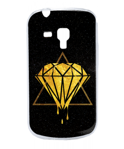 Diamond - Samsung Galaxy S3 Mini Carcasa Transparenta Plastic
