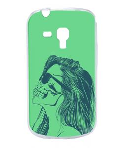 Skull Girl - Samsung Galaxy S3 Mini Carcasa Transparenta Silicon
