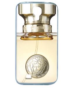 Versace Perfume - Samsung Galaxy S4 Carcasa Transparenta Silicon