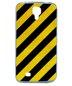 Caution - Samsung Galaxy S4 Carcasa Transparenta Silicon