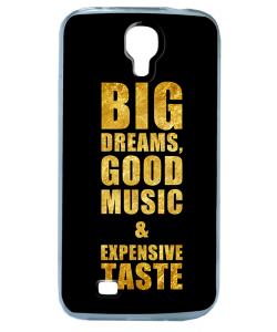 Good Music Black - Samsung Galaxy S4 Carcasa Transparenta Silicon