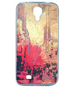 New York Time Square - Samsung Galaxy S4 Carcasa Transparenta Silicon