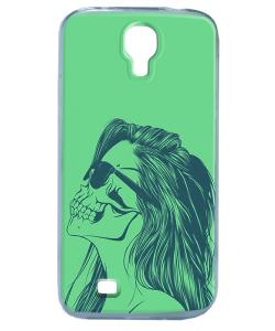 Skull Girl - Samsung Galaxy S4 Carcasa Transparenta Silicon