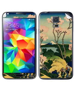 Hokusai - The Fuji from Gotenyama at Shinagawa on the Tokaido - Samsung Galaxy S5 Skin