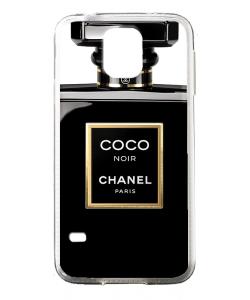 Coco Noir Perfume - Samsung Galaxy S5 Mini Carcasa Transparenta Silicon
