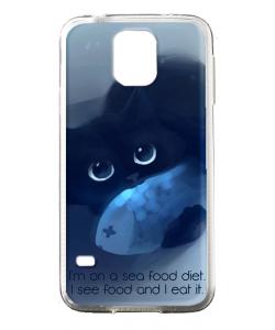 Sea Food - Samsung Galaxy S5 Mini Carcasa Silicon