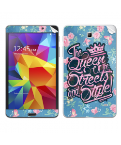 Queen of the Streets - Floral Blue - Samsung Galaxy Tab Skin