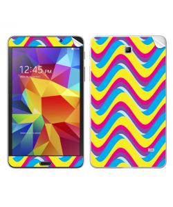CMYK Waves - Samsung Galaxy Tab Skin