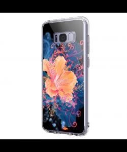Abstract Flower - Samsung Galaxy S8 Carcasa Premium Silicon