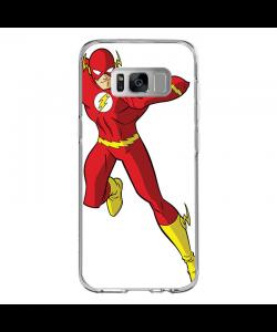 The Flash Icon - Samsung Galaxy S8 Carcasa Transparenta Silicon
