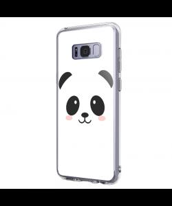 Kawaii Panda Face - Samsung Galaxy S8 Carcasa Premium Silicon