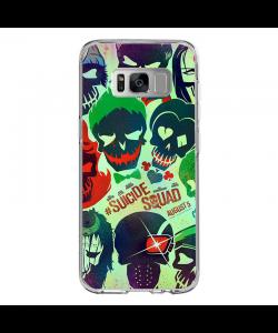 Suicide Joker - Samsung Galaxy S8 Carcasa Transparenta Silicon