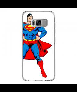 Superman - Samsung Galaxy S8 Carcasa Transparenta silicon