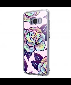 Psychedelic Flower - Samsung Galaxy S8 Carcasa Premium Silicon