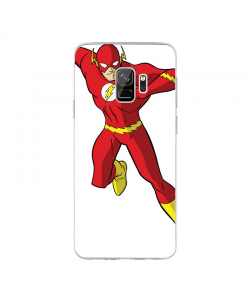 The Flash Icon - Samsung Galaxy S9 Plus Carcasa Transparenta Silicon