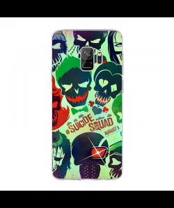 Suicide Joker - Samsung Galaxy S9 Carcasa Transparenta silicon