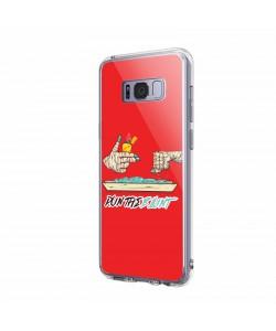 Run the Blunt - Samsung Galaxy S8 Carcasa Transparenta Silicon