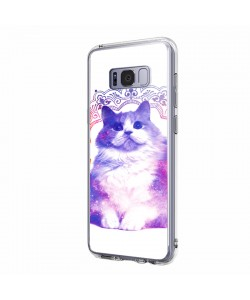 Galaxy Cat - Samsung Galaxy S8 Plus Carcasa Transparenta Silicon