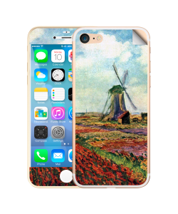 Claude Monet - Fields of Tulip With The Rijnsburg Windmill - iPhone 7 / iPhone 8 Skin