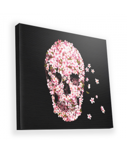 Cherry Blossom Skull - Canvas Art 45x45